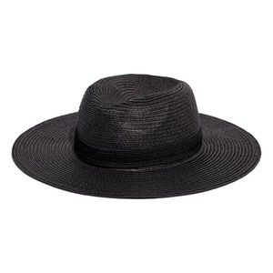 Madewell Packable Mesa Straw Hat Black M/L